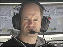 McLaren technical designer Adrian Newey