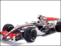 The new McLaren MP4-21 in its chrome colourscheme