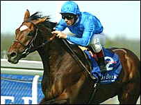 Frankie Dettori rode Doyen to victory in the 2004 King George