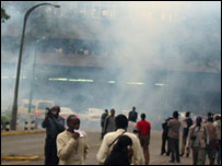 Tear gas in Nairobi
