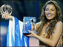 Eurovision 2005 winner Helena Paparizou