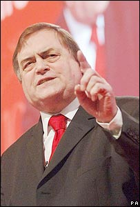 The Labour faithful cheered Mr Prescott to the rafters