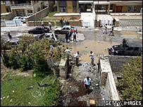 Scene of recent attack in Baghdad