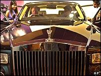 Rolls-Royce car launch in Mumbai in April 2005