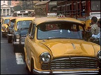 Ambassador taxis in Calcutta