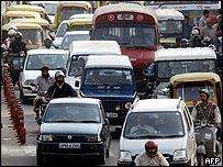 Traffic jam in Delhi