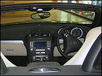 Mercedes C-Class car in Mumbai show room