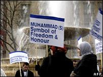 Pro-Islam rally in Trafalgar Square