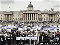 Pro-Islam rally in Trafalgar Square