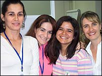 Regina Andrade, Sabrina Luz Loureiro, Andrea Miranda y Silvana Pezzi, investigadoras del VIAS