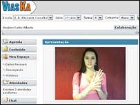 Modelo de interface utilizando lenguaje de señas