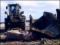 Moving the stone from the Falklands