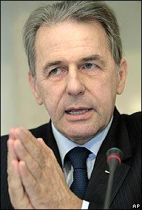 El presidente del Comit� Ol�mpico Internacional, Jacques Rogge.