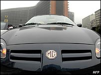 MG sports car