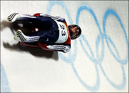 American-born Adam Rosen competing for Great Britain in the luge