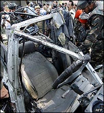 Blast site in Srinagar