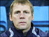 Manchester City manager Stuart Pearce