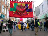 The Community and Youth Workers' Union rally