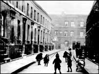 Slum street, 1930s