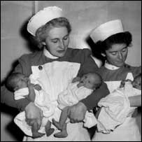 First babies born on NHS, July 1948