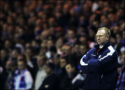 Rangers manager Alex McLeish