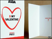 The card comes in Asda's Smart Price range colours