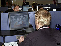 Cyber Storm in progress (Handout photo)