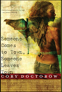 Cory Doctorow book. Cover illustration by Dave McKean