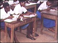 Ugandan schoolgirls