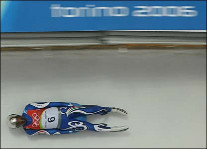 Italy's Armin Zoeggeler in luge action