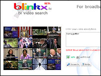 Screengrab of Blinkx.tv