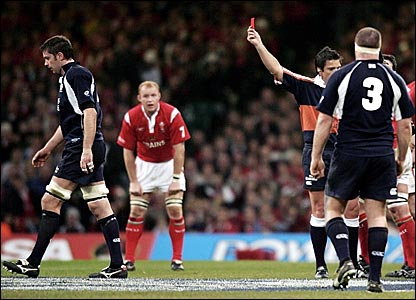Scotland's Scott Murray (left) leaves the field