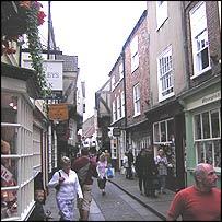York's historic shopping areas