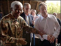 Nelson Mandela, Tony Blair