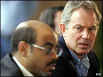 Meles Zenawi and Tony Blair