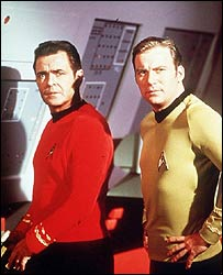 James Doohan and William Shatner in Star Trek