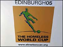 The Homeless World Cup is taking place in Edinburgh