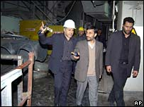 Mahmoud Ahmadinejad at nuclear plant