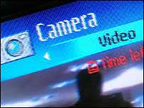 Video screen on handset, BBC