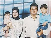 Baha Mousa with his family
