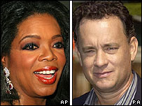 Oprah Winfrey and Tom Hanks