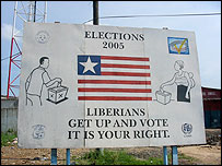 Liberian election billboard