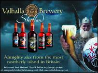 Valhalla Brewery advert