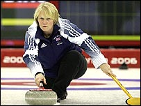Rhona Martin in action for Britain