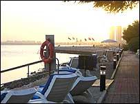 View in Qatari capital Doha