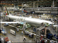 Boeing plane under construction