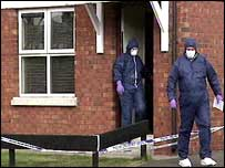 Forensic scientists at scene of Belfast shooting