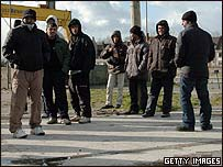 Asylum seekers in the French port of Calais