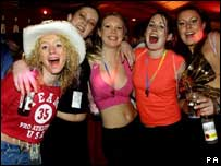 Ministry of Sound party-goers, PA