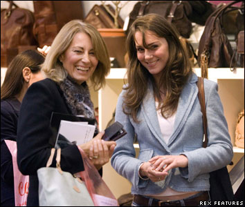 Kate Middleton and her mother Carole shopping at the 'Spirit of Christmas ' festival at Olympia 3rd of Nov 2005